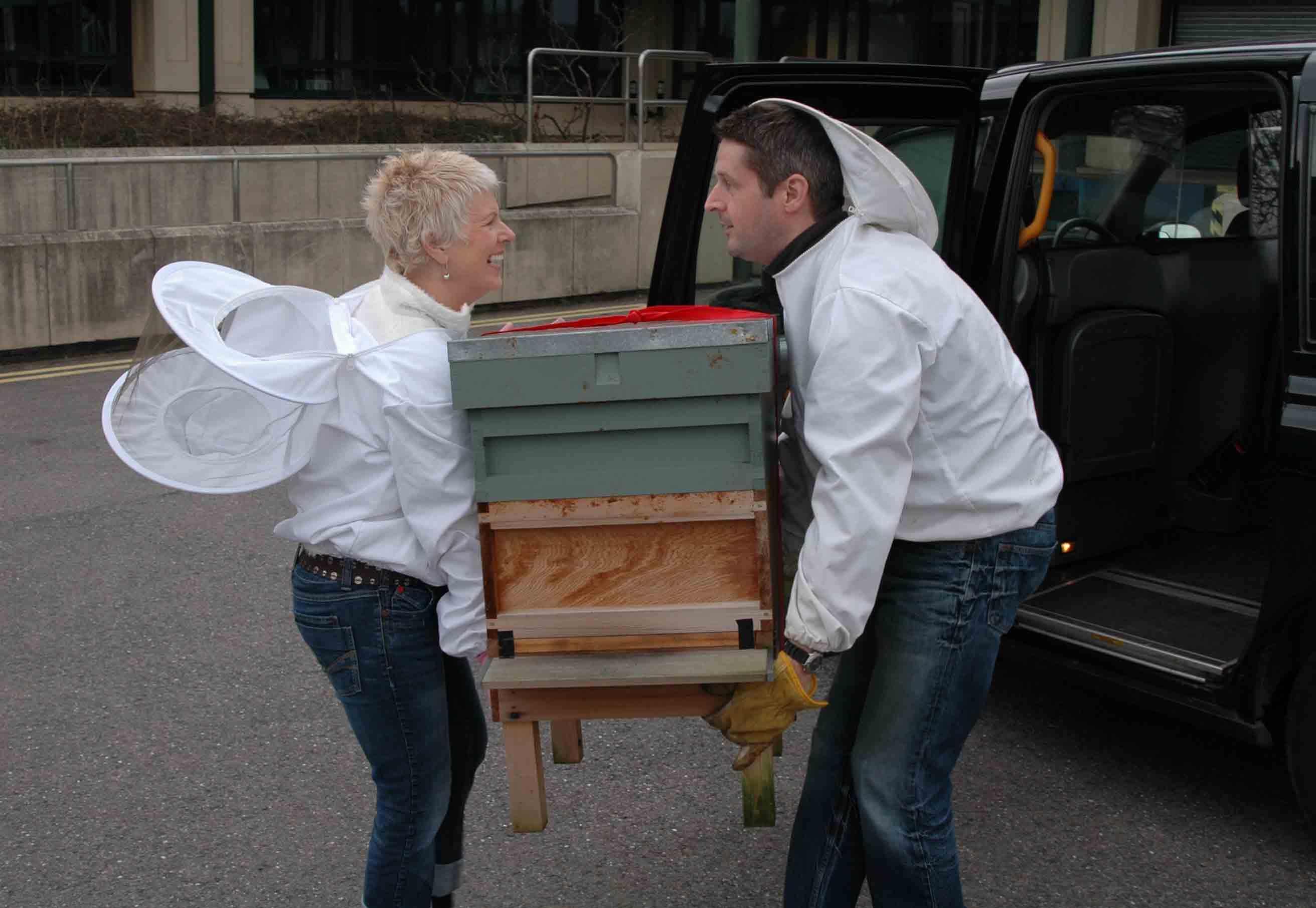 Beehives arriving at Kew