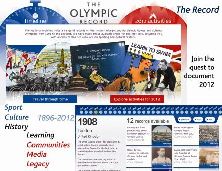 The Olympic Record site