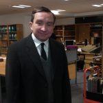 Eddie Marsan in the Staff Reading Room