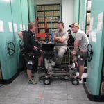Film crew in the repository