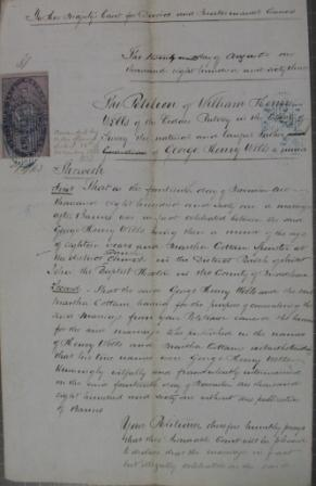Petition for decree of nullity of marriage 1863 (J 77/61)