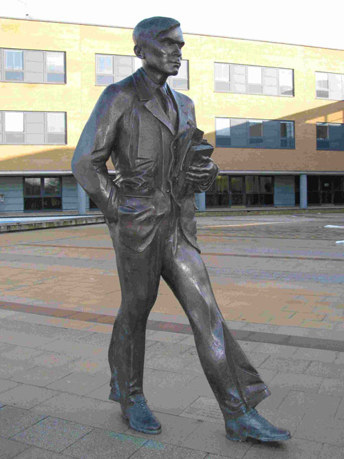 Statue of Alan Turing at the University of Surrey