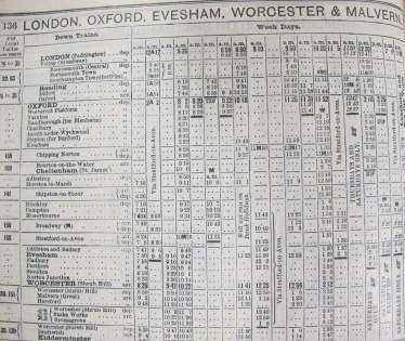 Travelling from London to Adlestrop via Oxford June 1914 (reference RAIL 936/48)