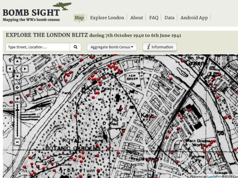 Kew and environs, as seen on BombSight.org