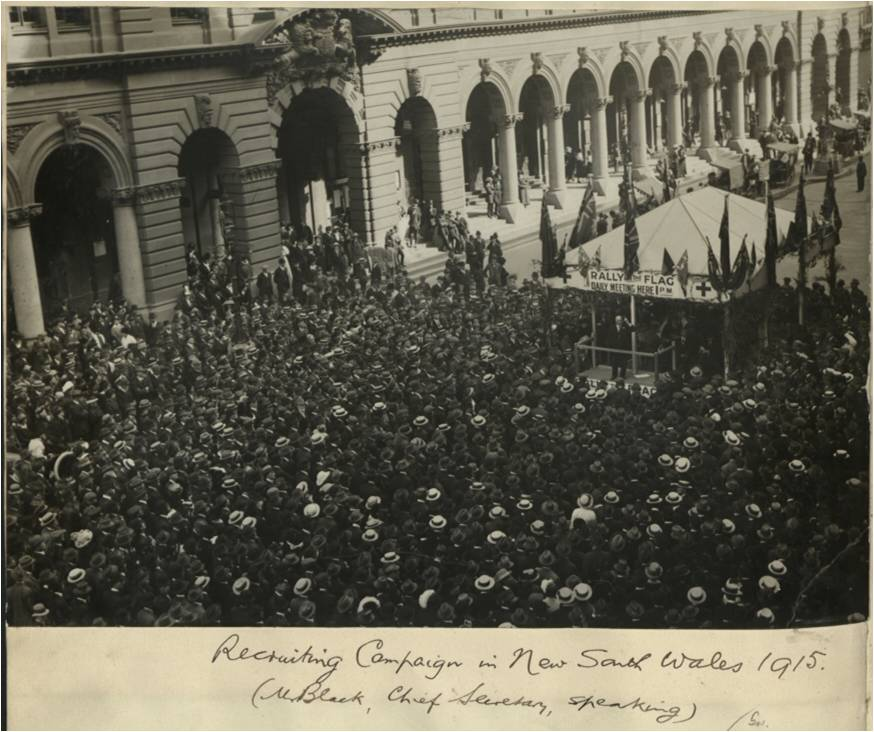 Recruiting campaign in New South Wales, 1915