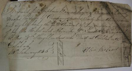Receipt for proceeds the sale of effects