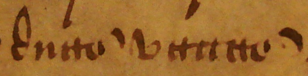 The Latin words 'duas vaccas' ('two cows'). Document reference: ASSI 35/18/5 m 18 (detail).