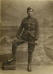 Mr Brown in the uniform of the Argyll and Sutherland Highlanders
