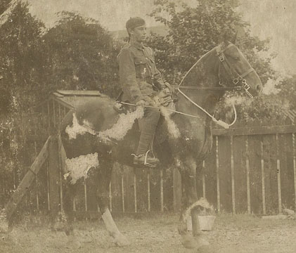 Mr Brown on horseback