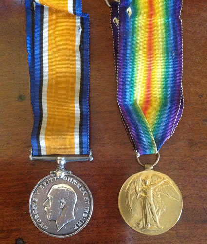 Mr Brown's war medals