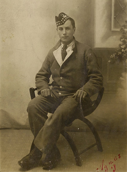Mr Brown in the uniform of the Seaforth Highlanders