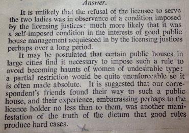 Excerpt from liquor licensing