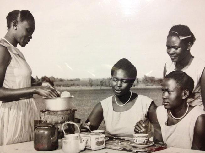 Members of a Maendeleo Club at Kabete to learn to make tea