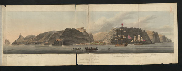 Engraving from a sketch by Lt W Innes Pocock, 'Five Views of St Helena', 1815