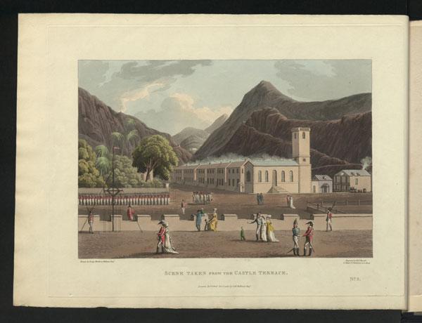 Jamestown, St Helena, George Hutchins Bellasis, 'Views of St Helena', 1815,