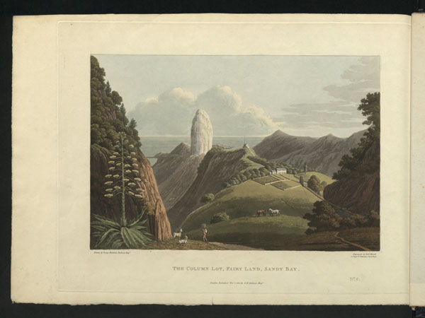 A view of Lot's Column, George Hutchins Bellasis, 'Views of St Helena', 1815