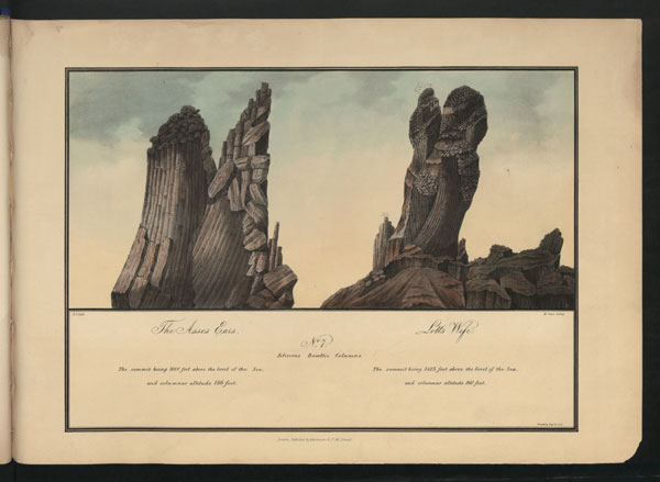 Asses Ears and Lot's Wife, Robert F. Seale, 'The Geognosy of the Islands of St Helena', 1834, CO 1069/757