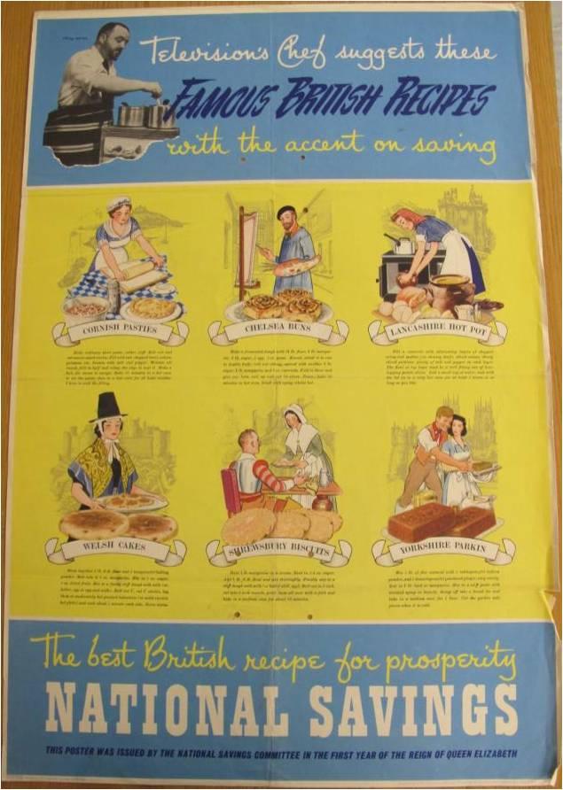 Illustrations of famous British recipes