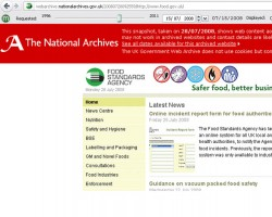 Memento in the UK Government Web Archive