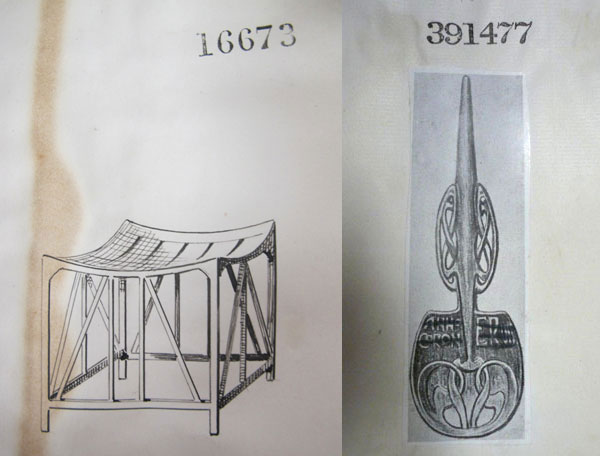 Thebes stool and Cymric spoon
