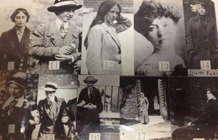 Surveillance photographs of Suffragettes