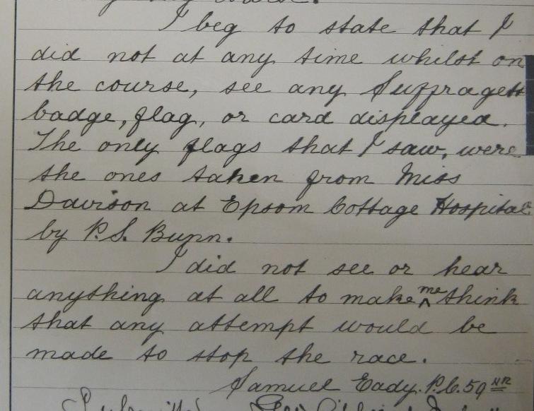 PC Eady's statement 12 June 1913 (catalogue ref: MEPO 2/1551)