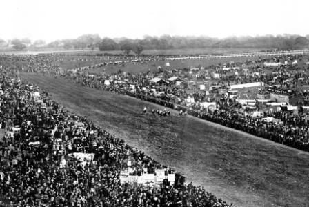 Epsom Derby, 1895, view of the race (catalogue ref: COPY 1/420/777 )
