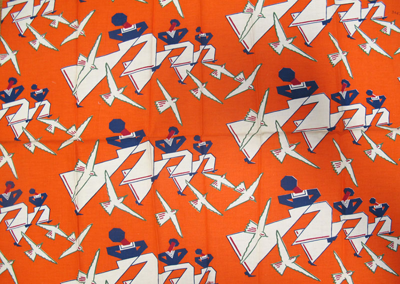 'Matelot' dress fabric, registered by the Calico Printers' Association, 1934