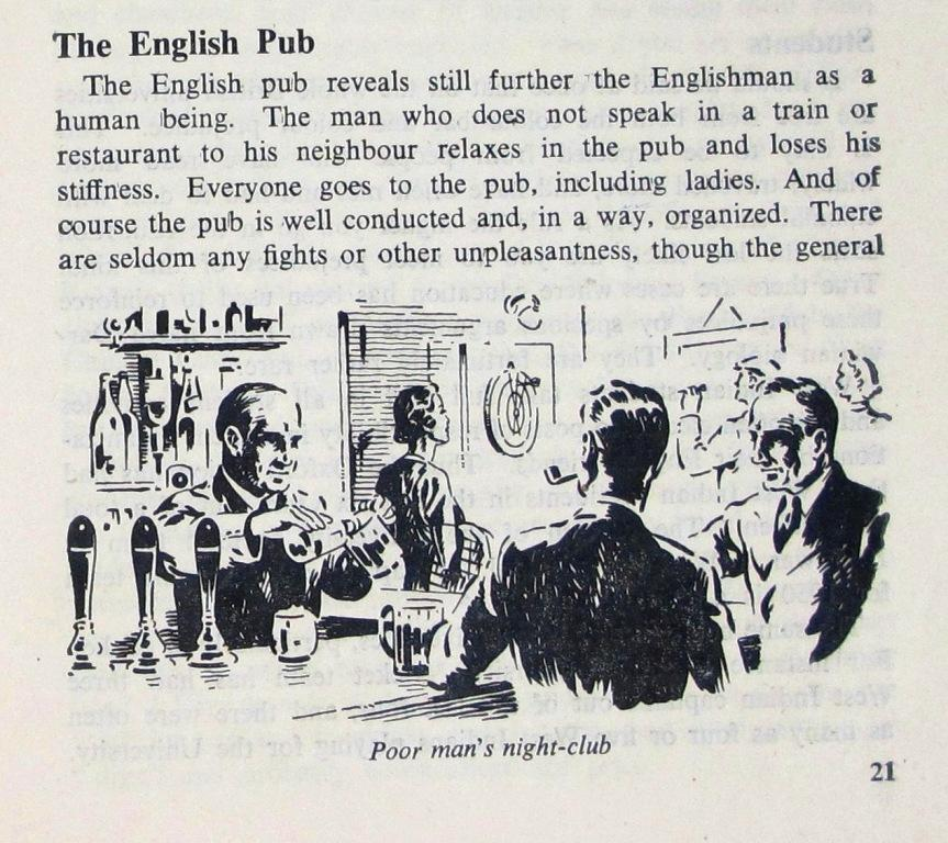 'The English Pub' from 'A West Indian in England' pg. 21.