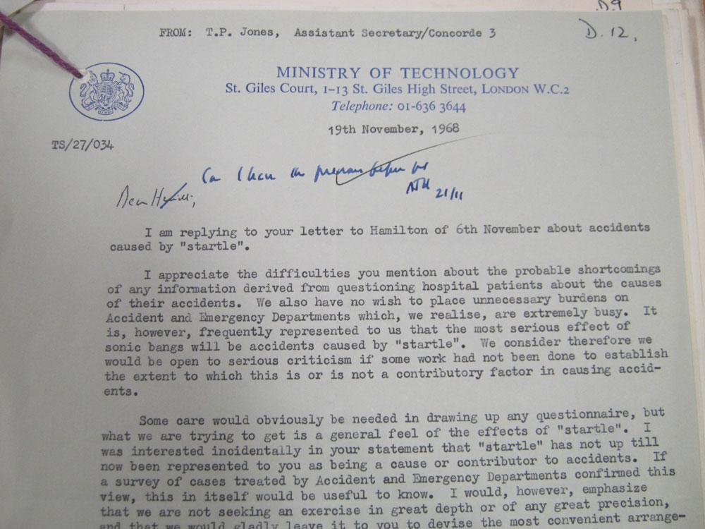 Ministry of Technology letter to Department of Health 1968