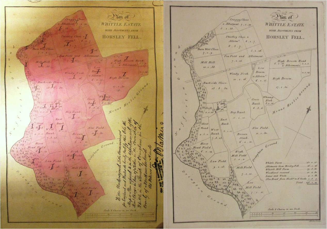 Spot the difference: the map on the left (catalogue reference IR 30/25/476) is a customised version of the map on the right (catalogue reference MPI 1/162 no 17).