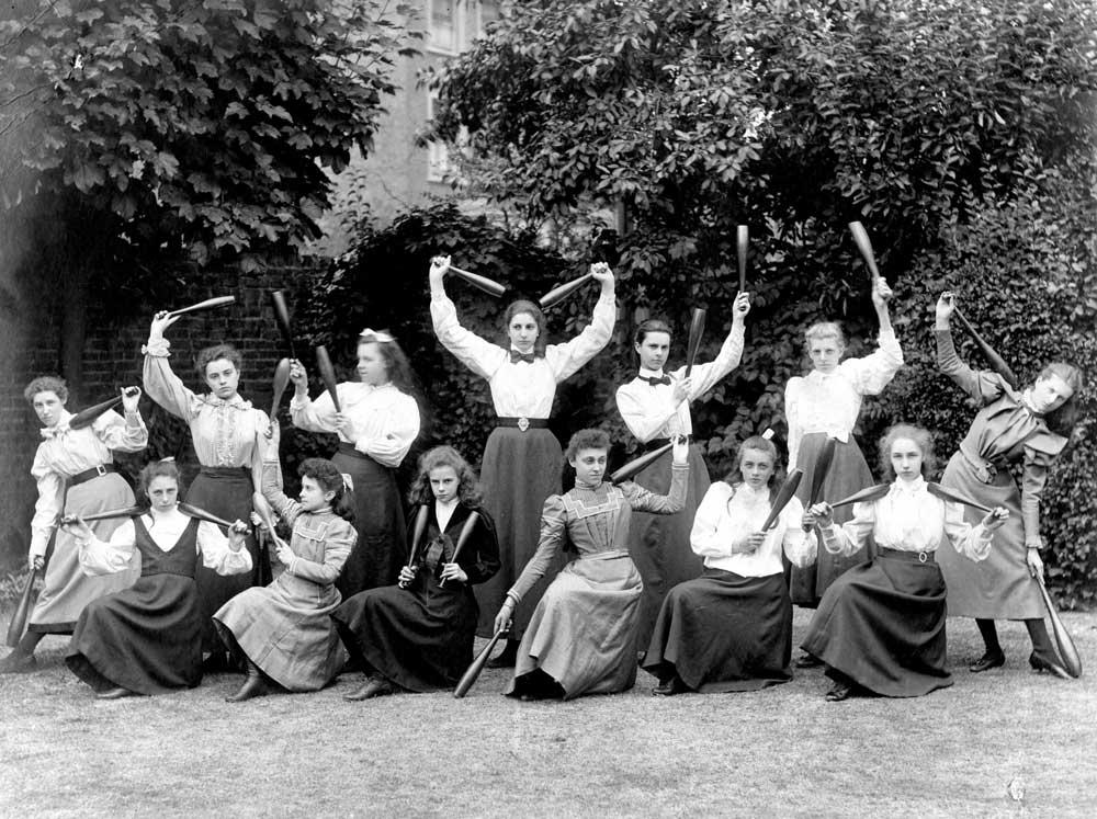 Gym class North Park College, Croydon, 1900. Catalogue reference: COPY 1/448 (243)