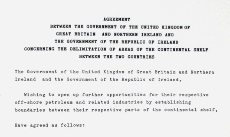 The opening of the text of the agreement.