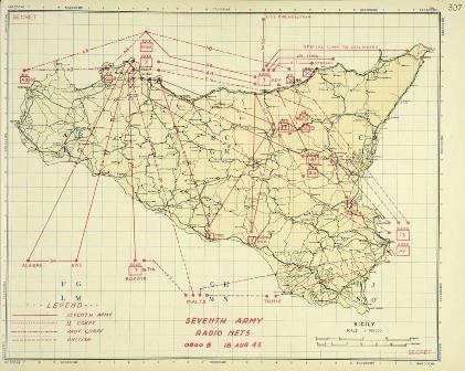 CAB 106/396 7th Army radio nets, Sicily (18 August 1943)