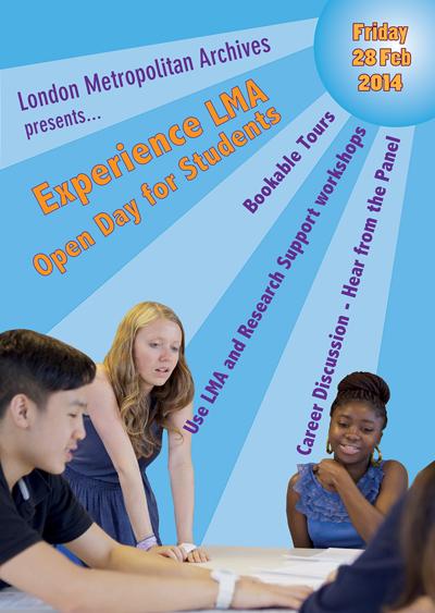 London Metropolitan Archives open day poster