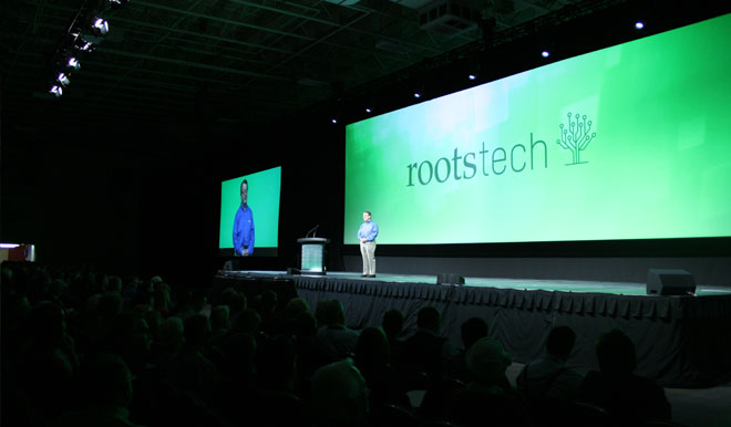 A Rootstech keynote session