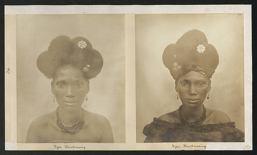 Head and shoulders portrait of a native female, Gold Coast. (catalogue reference CO 1069/34/69)