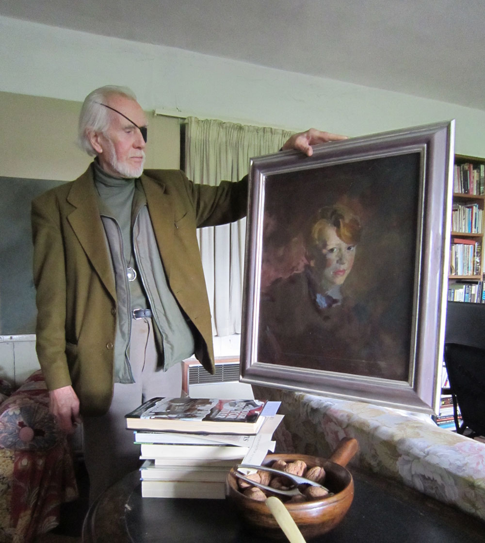 Artist Frederick Deane at his home, Wales. Kerstin Doble