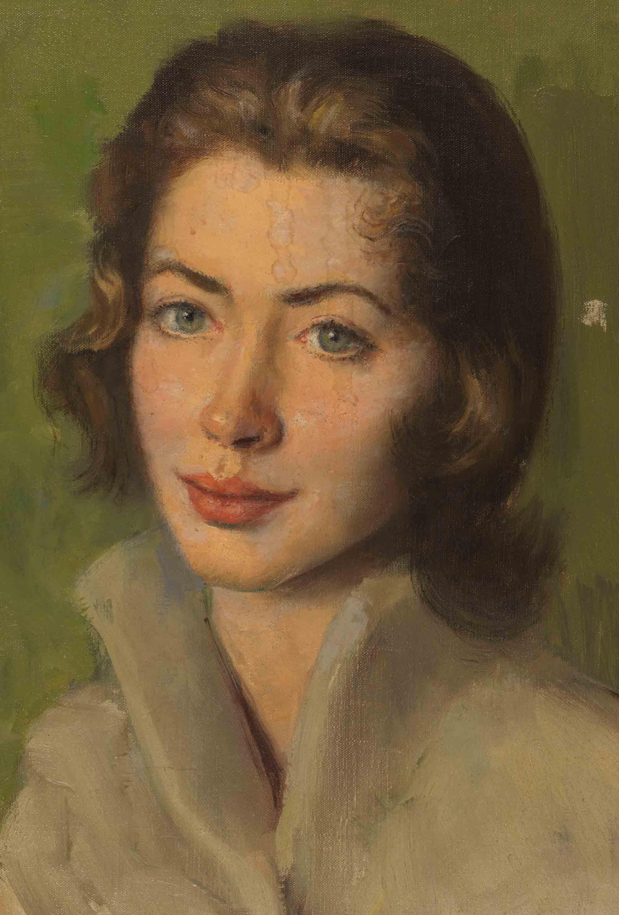Anthony Devas, Alice, c.1956, Oil on Canvas, 16 x 12 inches. Ref: R/AeroGirls. Borthwick Institute for Archives. Copyright Nestlé UK.