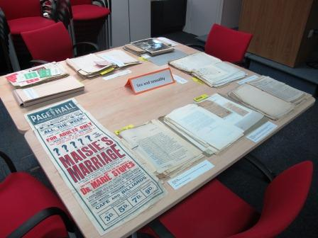 Image of one section of the origional document display on the theme of 'sex and sexuality'.