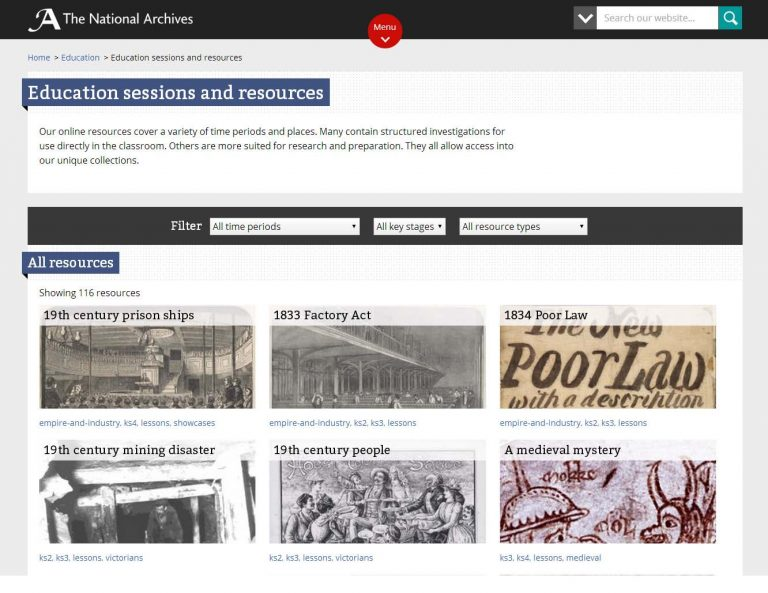 Screenshot of the redesigned pages