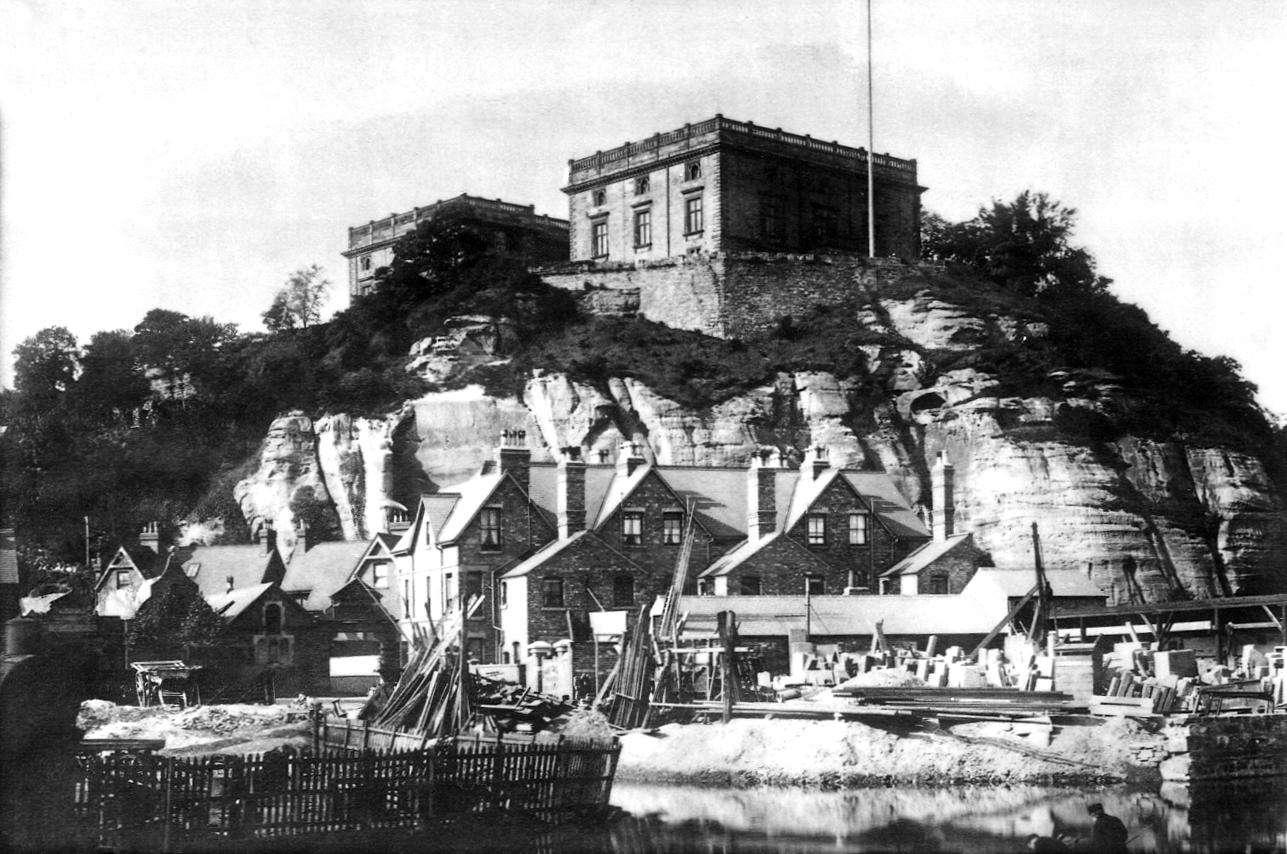 Nottingham Castle as it appeared around the time of the Valuation Office survey. Catalogue reference: COPY 1/560/225