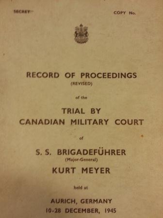 Trial of S.S. Brigadeführer Kurt Meyer WO 235/1122