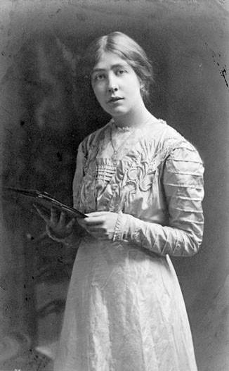 Image of Sylvia Pankhurst, dated 1909.