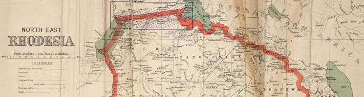 Map of Northern Rhodesia and Angolan Boundaries 1917 (WO 408/43 (14))