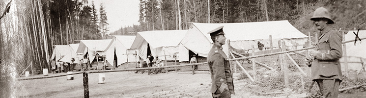 Inspection Dominion Detention Camp at Emerald, BC, Canada (FO 383/240)