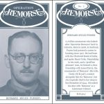 A mock 'Cigarette Card', front and back, for Bernard Purser, a senior member of 'Remorse'. Adapted from HS 9/1218/3.