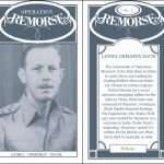A mock 'Cigarette Card', front and back, for Lionel Davis, commander of 'Remorse' in the field. Adapted from HS 9/403/6.