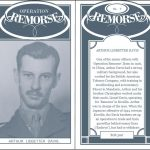A mock 'Cigarette Card', front and back, for Arthur Davis, Lionel Davis's nephew and a senior member of 'Remorse'. Adapted from HS 9/402/5.