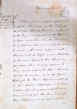 Draft letter from Earl Bathurst to Major-General Ross. Catalogue ref: WO 6/2 folios 1 to 4